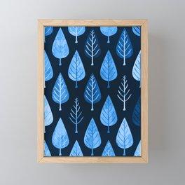 Leaf pattern Framed Mini Art Print