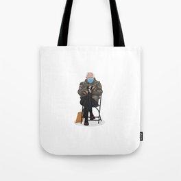 Bernie In Mittens Tote Bag