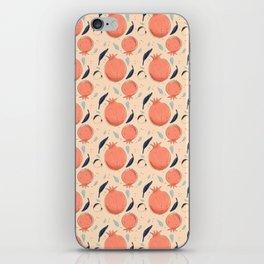 Hand Drawn Pomegranate iPhone Skin