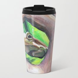 Tree Frog Through the Scope of a Hand Travel Mug