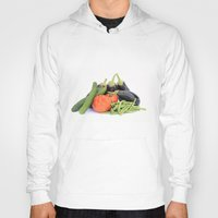 vegetables Hoodies featuring Vegetables together by Carlo Toffolo