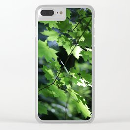 Summer Maple Leaves Clear iPhone Case