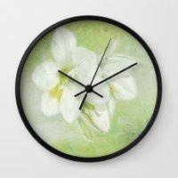 wasted rita Wall Clocks featuring Rita by Imagevixen