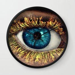 Eye in Flames Wall Clock