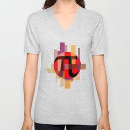 Geometric Pi  Unisex V-Neck