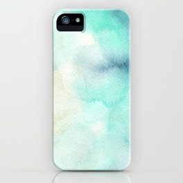 Indigo Turquoise Watercolor Abstract Painting iPhone Case