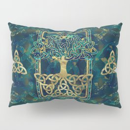 Tree of life - Yggdrasil with Triquetra  symbols Pillow Sham