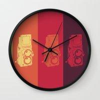 camera Wall Clocks featuring Camera. by Tuky Waingan