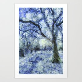 Blue Forest Van Gogh Art Print