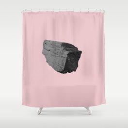 Pink Boulder Shower Curtain