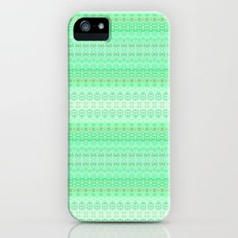Mint Green Abstract XIII iPhone Case