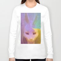 rabbit Long Sleeve T-shirts featuring rabbit by Maria Enache