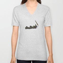Paint the City Unisex V-Neck
