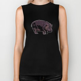 Hippopotamus Biker Tank
