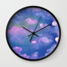 Galaxy flowers Wall Clock