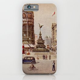 Vintage Piccadilly Circus London iPhone Case