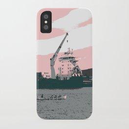 harbor rowing iPhone Case