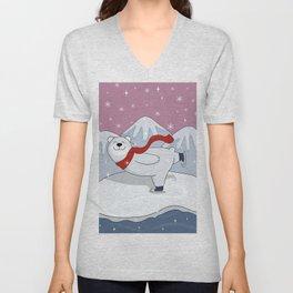 Cute Polar Bear Unisex V-Neck