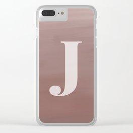 J in case Clear iPhone Case