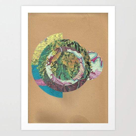 Topography Art Print