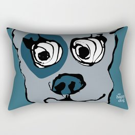 Bandit - petrol Rectangular Pillow