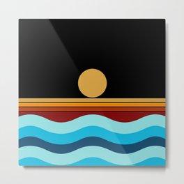 Sunset Geometric Metal Print