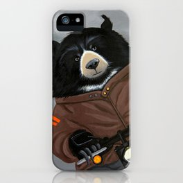 Bear on a Motorcycle iPhone Case