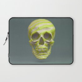 Yellow pop candy skull 3D render. Laptop Sleeve