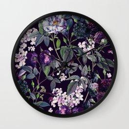 Rose Garden - Night II Wall Clock