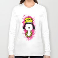 snoopy Long Sleeve T-shirts featuring Snoopy Dog by Mateus Quandt