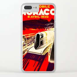 Monaco Grand Prix 1930 Clear iPhone Case