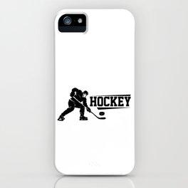 Hockey Eishockey Hockey Hockey Fan Hockey Spieler iPhone Case