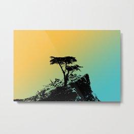 The Lone Cypress Metal Print