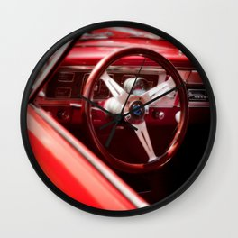 Red Ride Wall Clock