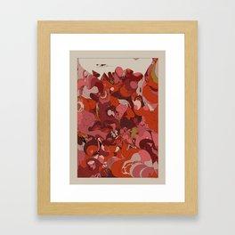 Organic Infographics - Lava Framed Art Print