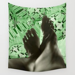 Flying Green Wall Tapestry