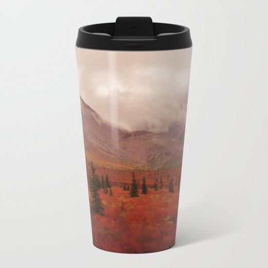 Smoky Mountains in the Fall Metal Travel Mug