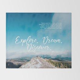 EXPLORE / DREAM / DISCOVER Throw Blanket