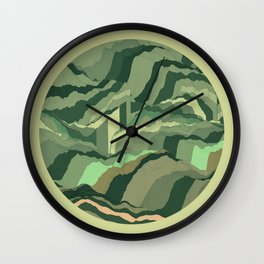 TOPOGRAPHY 005 Wall Clock