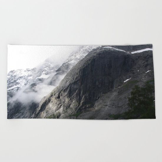 Mountain landscape #norway Beach Towel