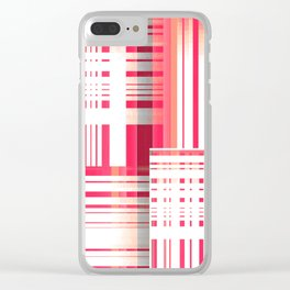 Abstract Dimensions in Coral, Muted Magenta and White Clear iPhone Case