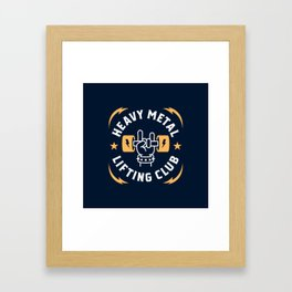 Heavy Metal Lifting Club (Yellow) Framed Art Print