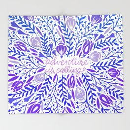 Adventure is Calling – Purple & Periwinkle Palette Throw Blanket