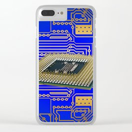 processor cpu board circuits Clear iPhone Case