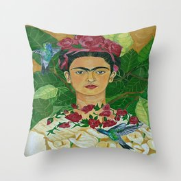 Frida In Heaven Throw Pillow