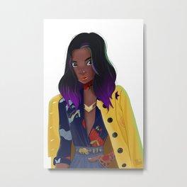 Yellow Coat Metal Print