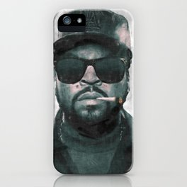 Ice Cube with joint sketch iPhone Case