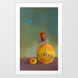 Bagel Bicycle Art Print