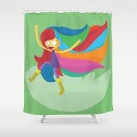 musa Shower Curtains featuring Musa by Juliana Rojas | Puchu