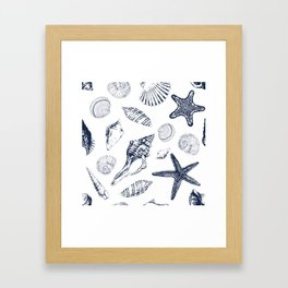 Underwater creatures Framed Art Print